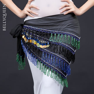 Dancewear polyester egyptian belly dance hip scarf