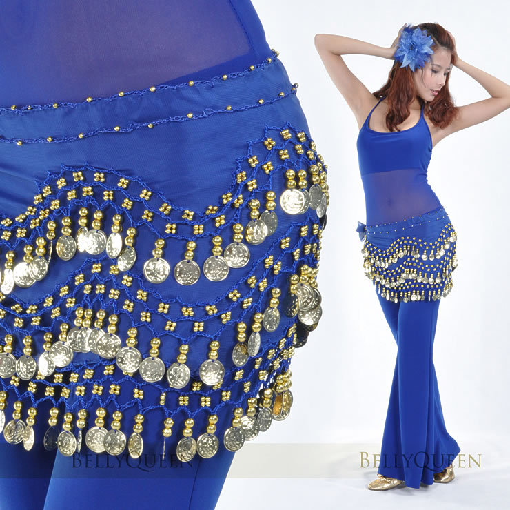Dancewear Chiffon Coins Belly Dance Hip scarf For Ladies