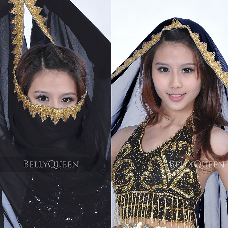 Chiffon belly dance veil