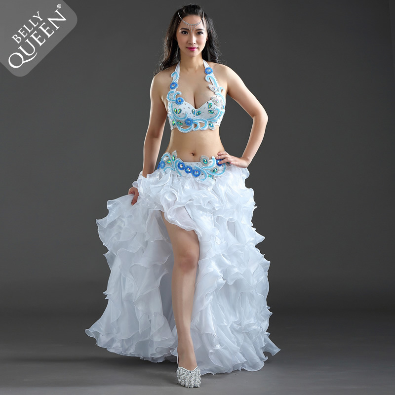 Dancewear Polyester Belly Dance Performance Costumes For Ladies