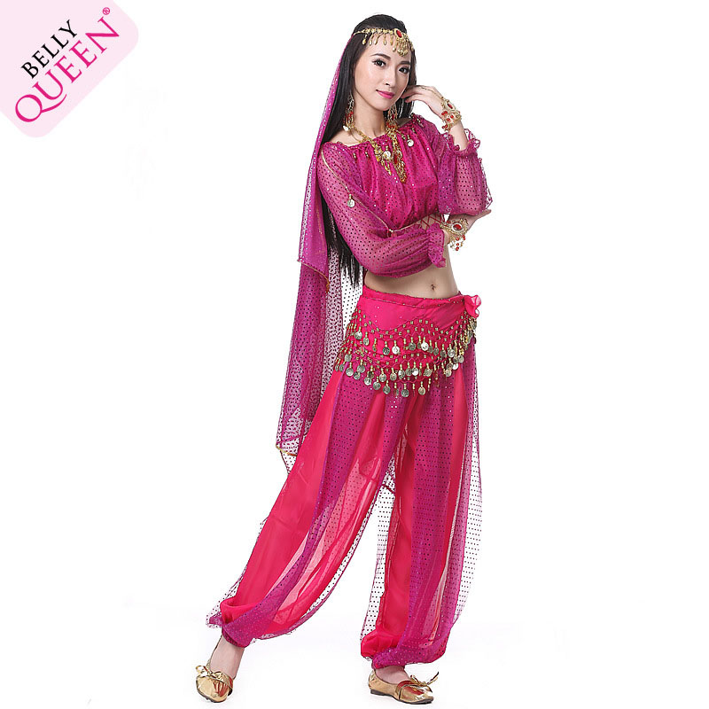 5 pieces Dancewear Polyester Belly Dance Outfits For Ladies