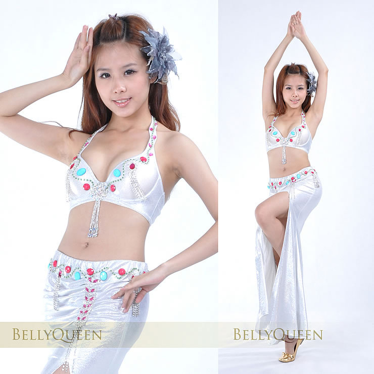 Dancewear Polyester Belly Dance Costumes For Ladies