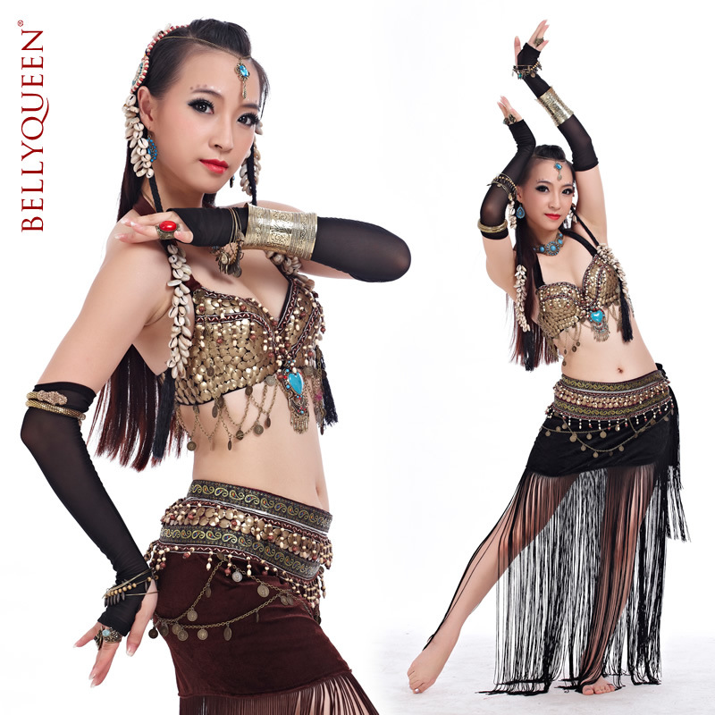 Dancewear With Beading Performance Belly Dance Tribal Costumes