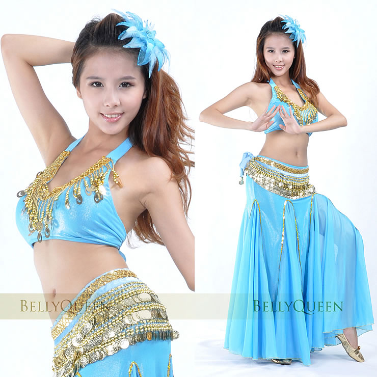 turquoise belly dancing costumes