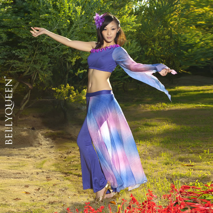 Dancing outfit polyester belly dance costumes
