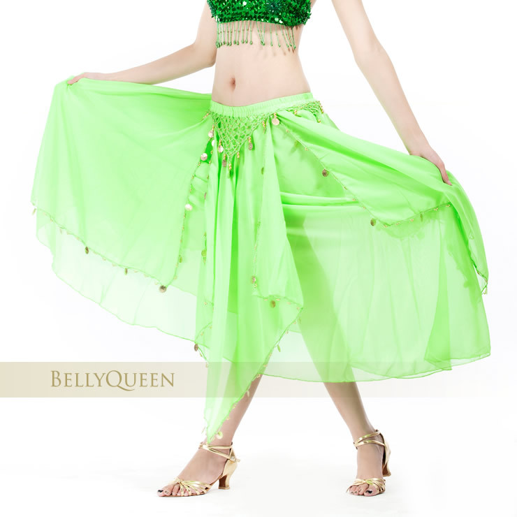 Dancewear chiffon belly dance skirt