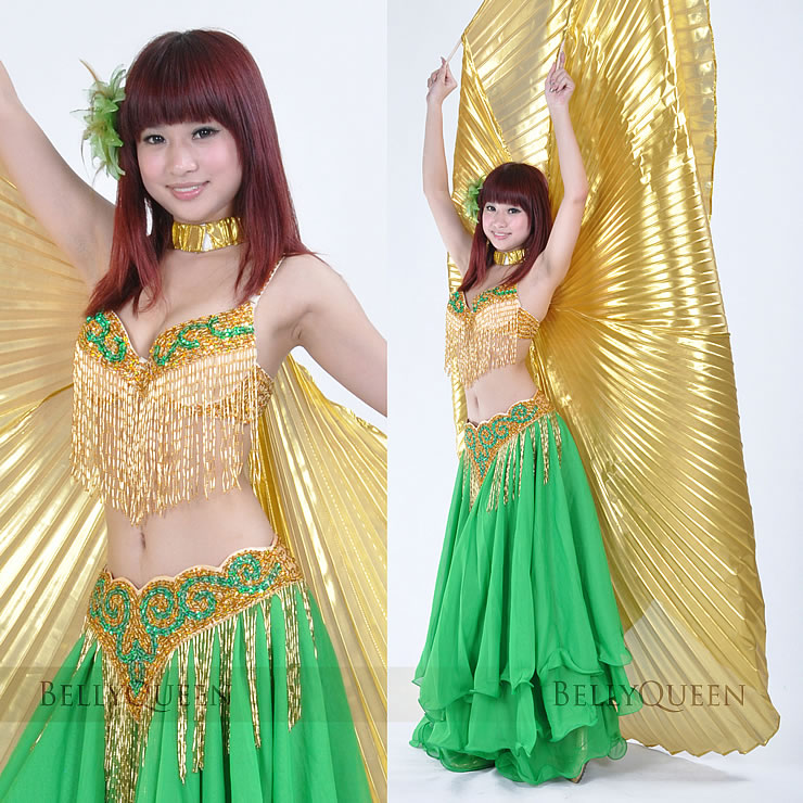 gold.green belly dancing outfits 8241758316-gold.green