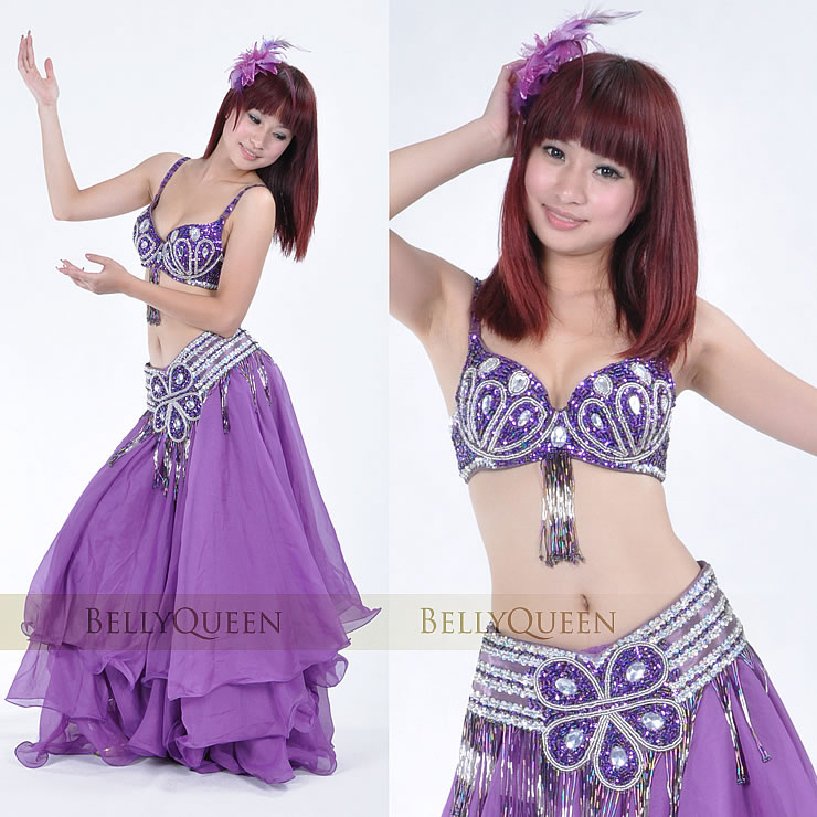 Dancewear With Beading Performance Belly Dance Dress For Ladies