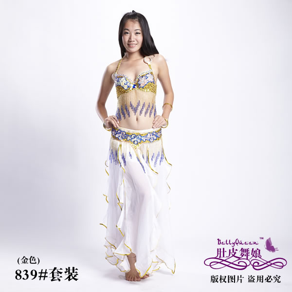 Dancewear With Beading Performance Belly Dance Costumes For Ladi