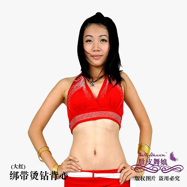 Dancewear polyester belly dance tops