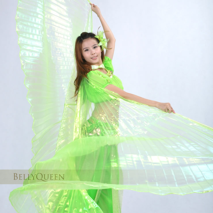 Dancewear polyester belly dance isis wing