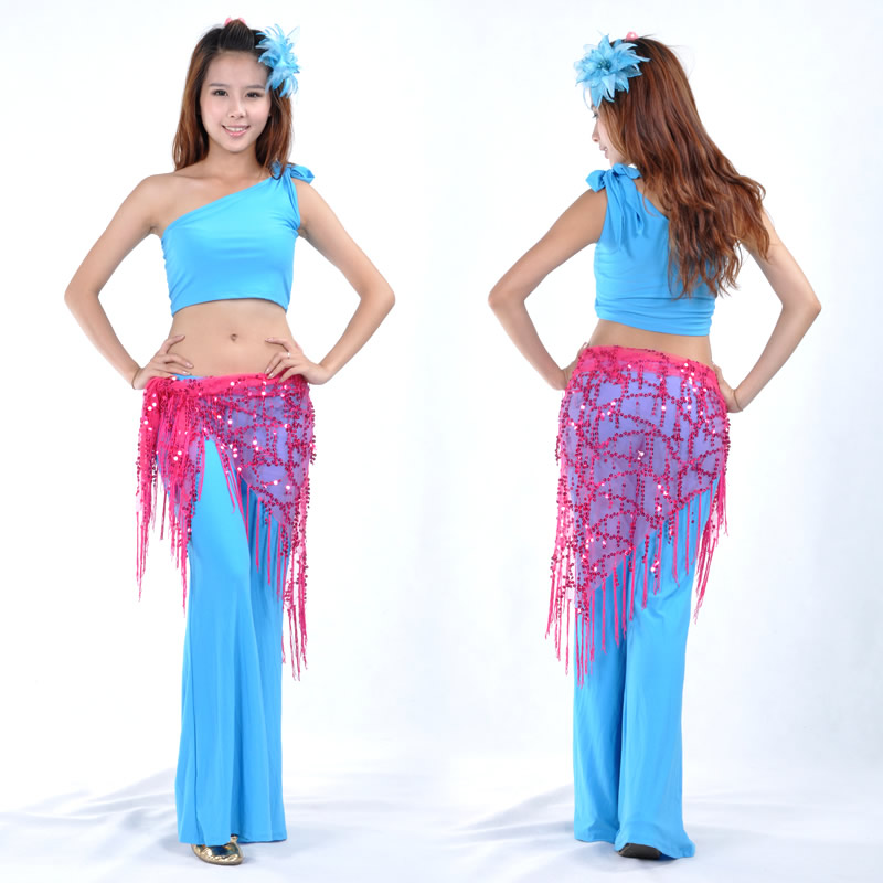 Triangle belly dance hip scarf