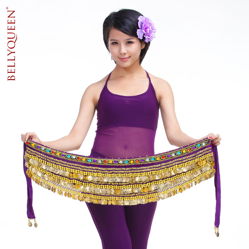 Belly dance gold coins hip scarf With Gold Coins