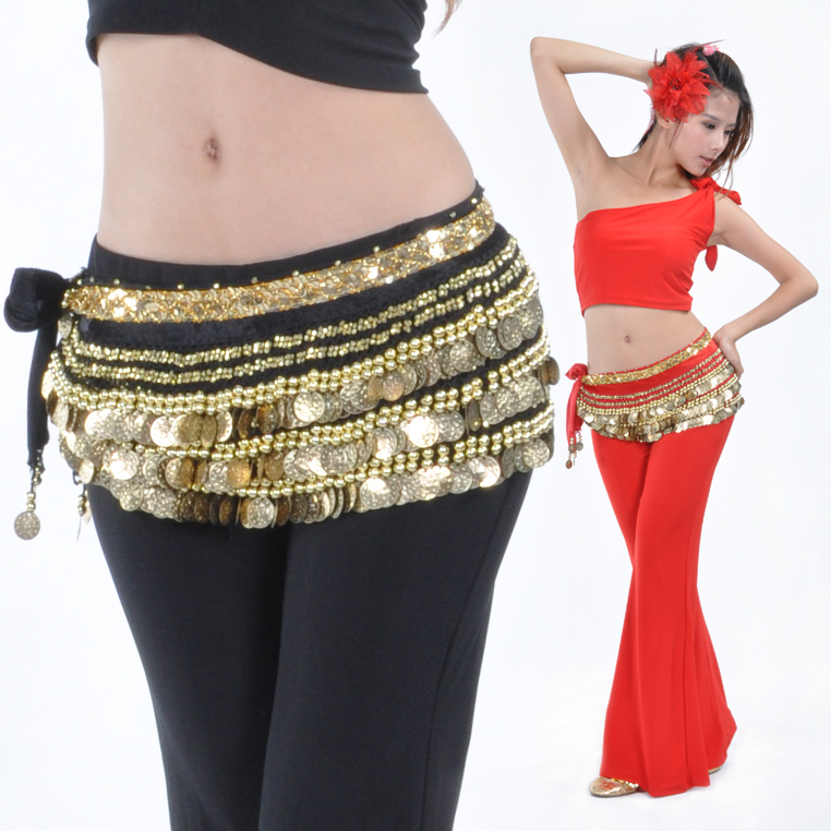 Professional Golds Coins belly dance coins hip scarf
