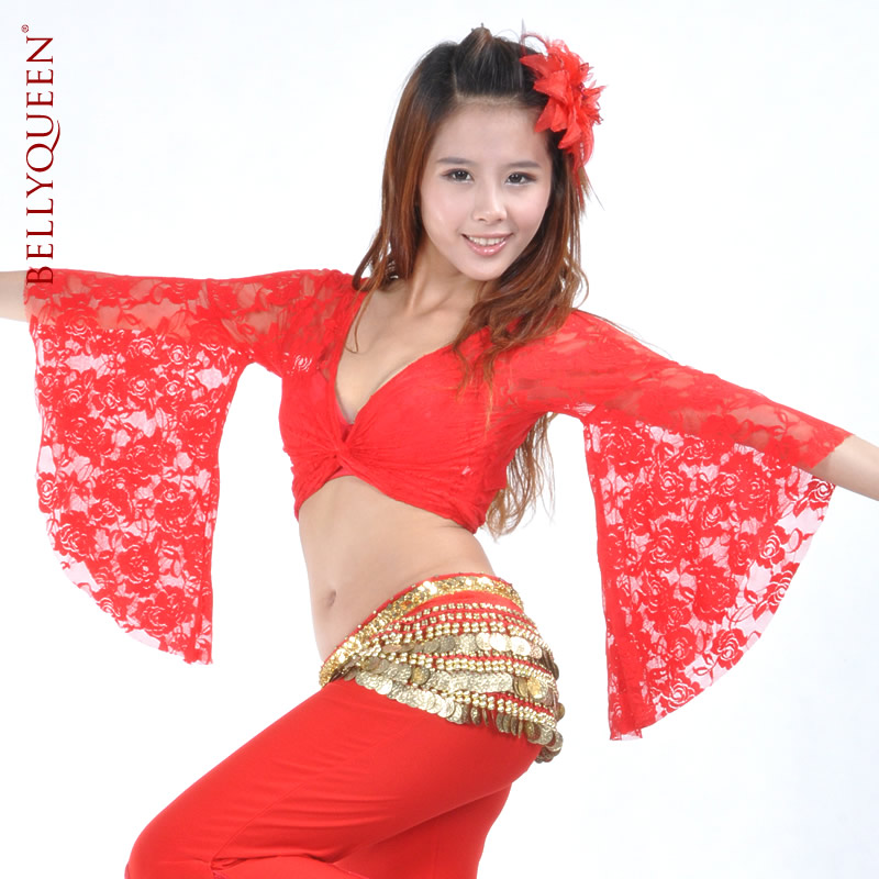 Dance Wear Lace Belly Dance Tops For Women More Colors